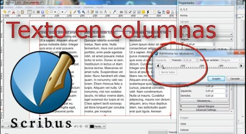Diseño de texto en columnas