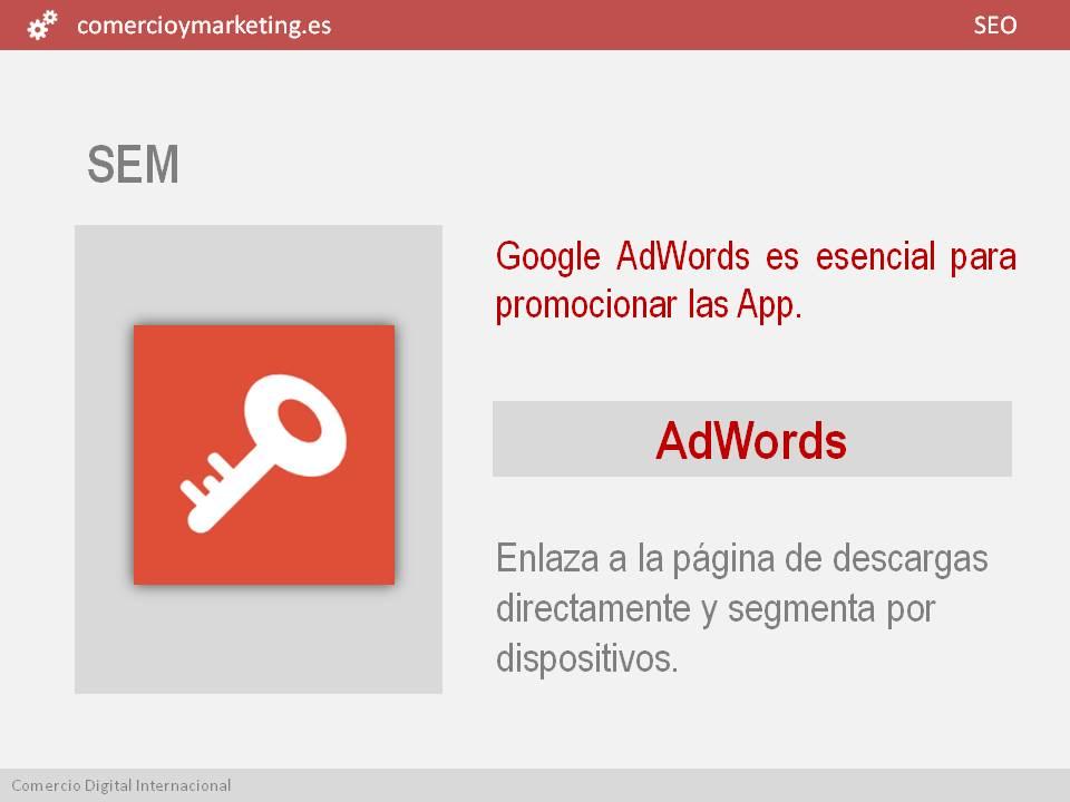 promocion aplicaciones con SEM