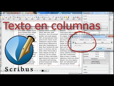 Diseño de texto en columnas con scribus
