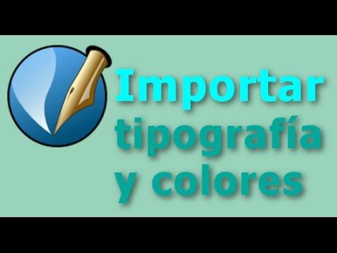 Importar tipografía y colores para maquetar en scribus