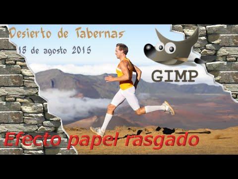 Efecto papel rasgado GIMP