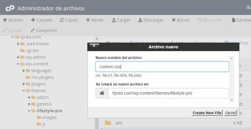 Personalizar una plantilla Wordpress de Genesis