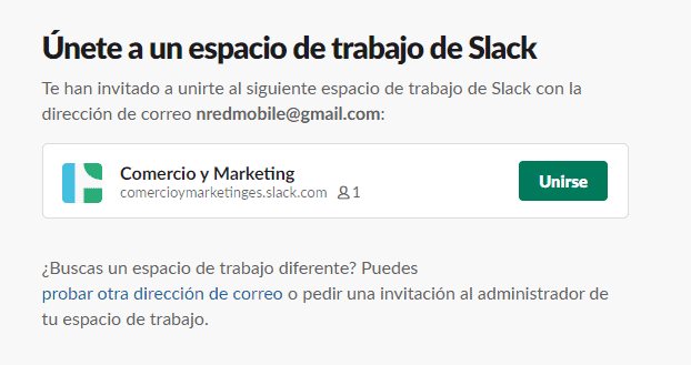 unirte al grupo slack